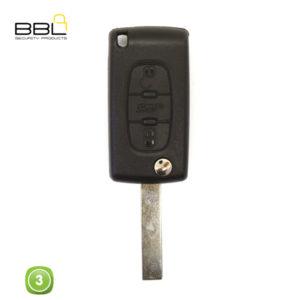 BBL Key Shells Citroen Shape 3 Button KSC-CIT-06A