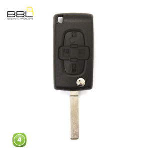 BBL Key Shells Citroen Shape 4 Button KSC-CIT-11A