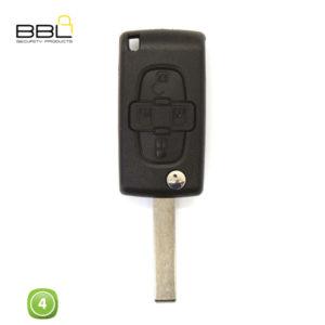 BBL Key Shells Citroen Shape 4 Button KSC-CIT-12A