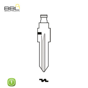 BBL Key Shells Fiat Shape 1 Button KSC-FI-03D