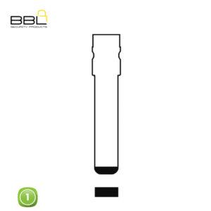 BBL Key Shells Fiat Shape 1 Button KSC-FI-04E