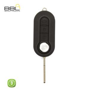 BBL Key Shells Fiat Shape 3 Button KSC-FI-15A