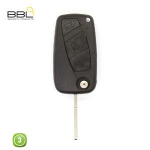 BBL Key Shells Fiat Shape 3 Button KSC-FI-30