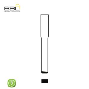 BBL Key Shells Landrover Shape 3 Button KSC-FO-64B