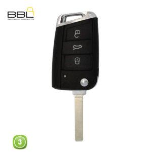 BBL Key Shells Volkswagen Shape 3 Button KSC-V-62F