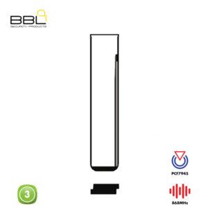 BBL Remote BMW Shape 3 Button KSC-BM-21C2