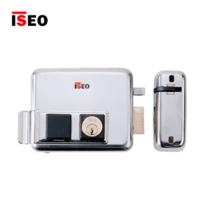 ISEO Rim No Button Inward Opening Electric Lock 520010602