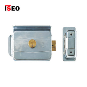 ISEO Rim Non-Handed Inward Opening Electric Lock 505604