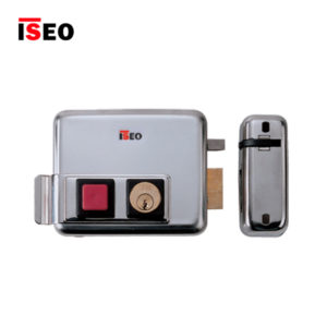 ISEO Rim With Button Inward Opening Electric Lock 520310602