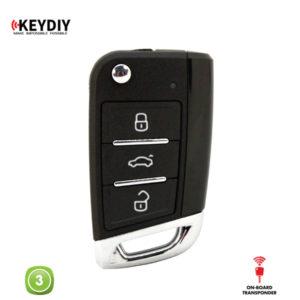 KEYDIY Remote VW GOLF 7 Shape 3 Button KDNB15-3