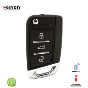 KEYDIY Remote VW GOLF 7 Shape 3 Button KDZB15-3