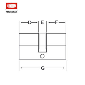 UNION 32MM Half Euro Profile Cylinder 2X20PL