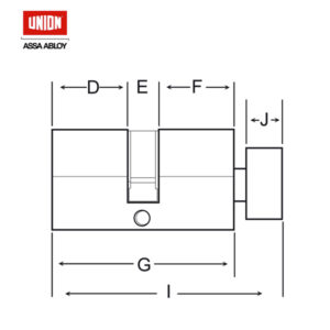 UNION 32MM Knob Euro Profile Cylinder 2X19PL