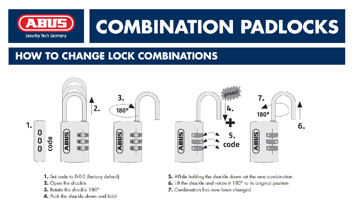 How to set your Combination ABUS 145
