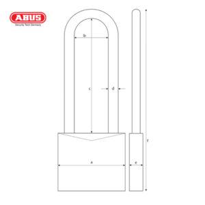 ABUS 41 Series CR Laminated Padlock 41/40HB50-1