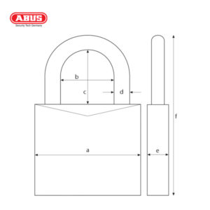 ABUS 41 Series CR Laminated Padlock 41/50-1