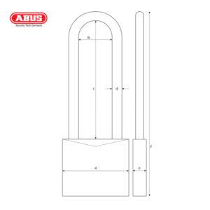 ABUS 64TI Series Titalium Padlock 64TI/30HB60-1