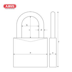 ABUS 64TI Series Titalium Padlock 64TI/50-1