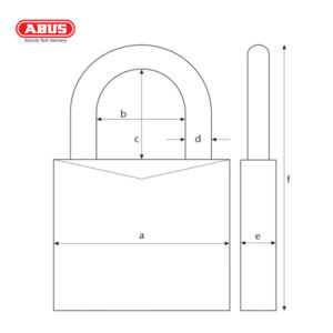 ABUS 70IB Series WS Weather Resistant Padlock 70IB/50-1