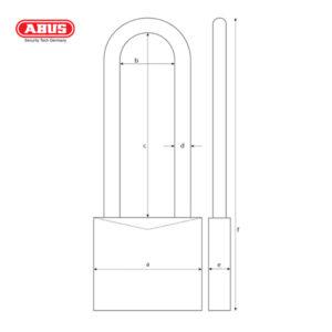 ABUS 70IB Series WS Weather Resistant Padlock 70IB/50HB80
