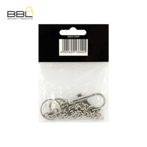 BBL 1 x Metal Snap Hook With Chain Key Ring Accessory Stand BBRKCSMPP