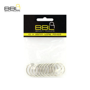 BBL 10 x 25mm Split Rings Key Ring Accessory Stand BBRKR25PP