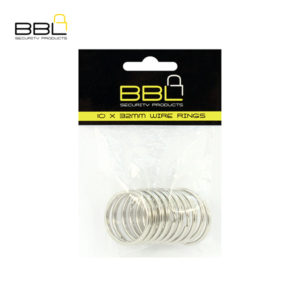 BBL 10 x 32mm Split Rings Key Ring Accessory Stand BBRKR32PP