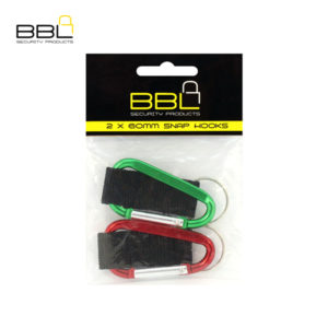 BBL 2 x 60mm Snap Hooks Key Ring Accessory Stand BBRQL60PP