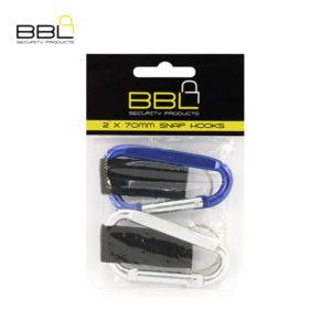 BBL 2 x 70mm Snap Hooks Key Ring Accessory Stand BBRQL70PP