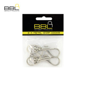 BBL 2 x Metal Snap Hooks No Chain Key Ring Accessory Stand BBRSMPP