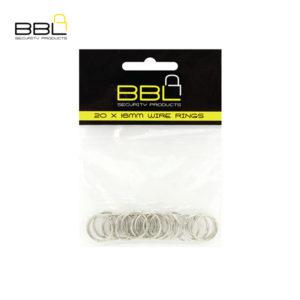 BBL 20 x 16mm Split Rings Key Ring Accessory Stand BBRKR16PP