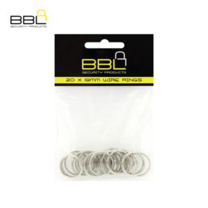BBL 20 x 19mm Split Rings Key Ring Accessory Stand BBRKR19PP