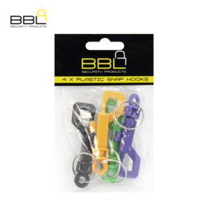 BBL 4 x Plastic Snap Hooks Key Ring Accessory Stand BBRSPPP