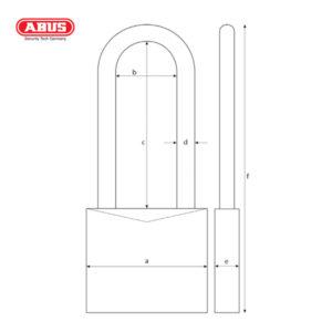 ABUS 37/55 Series Granit Padlock 37/55HB100