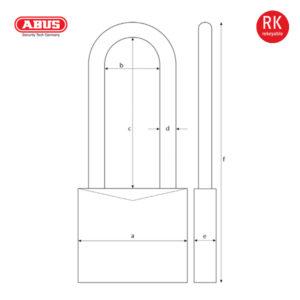 ABUS 37/55 Series Granit Padlock 37RK/55HB100