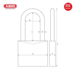 ABUS 37/70 Series Granit Padlock 37RK/70HB100