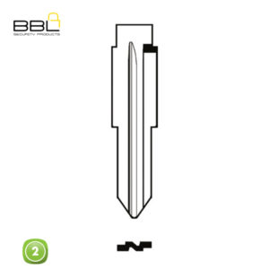 BBL Key Shells Chevrolet Shape 2 Button KSC-CHEV-12