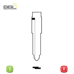 BBL Key Shells Mazda Shape 3 Button KSC-MAZ-17B