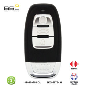 BBL Remote Audi Shape 3 Button REMC-AUDI-08A1