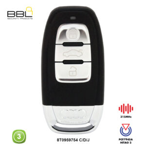 BBL Remote Audi Shape 3 Button REMC-AUDI-08A