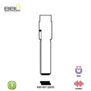 BBL Remote Audi Shape 3 Button REMC-AUDI-13B
