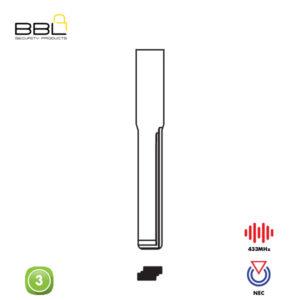 BBL Remote BMW Shape 3 Button REMC-BENZ-08