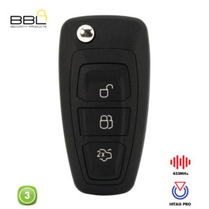 BBL Remote Ford Shape 3 Button REMC-FORD-30H