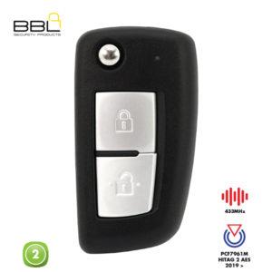 BBL Remote Nissan Shape 2 Button REMC-NIS-19C