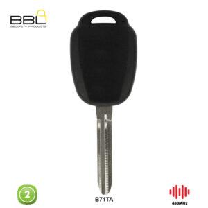 BBL Remote Toyota Shape 2 Button REMC-TOY-20