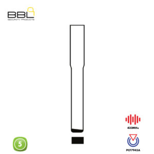 BBL Remote Volvo Shape 5 Button REMC-VOL-07