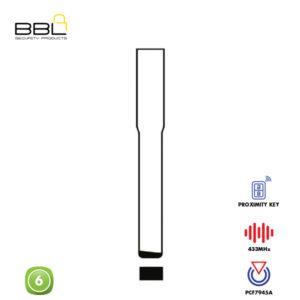 BBL Remote Volvo Shape 6 Button REMC-VOL-08