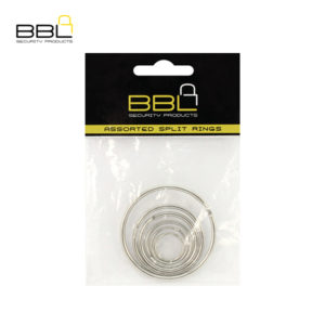 BBL 5 x Assorted Split Rings Key Ring Accessory Stand BBRKRPP