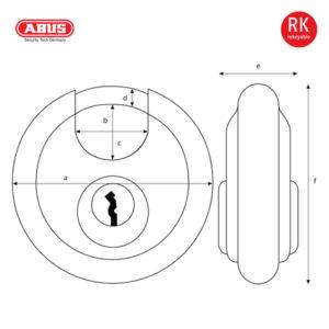 ABUS 24 Series ODP Discus Padlock 24RK/70