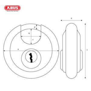 ABUS 24IB Series 100SS Discus Padlock 24IB/70-1